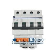 Interruttore Automatico 4 poli - 10A 6kA curva C 4 moduli Siei MC6-10/4