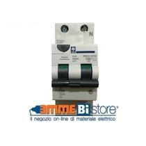 Interruttore Magnetotermico Differenziale 1 polo+N  6A 4,5kA 0,03A curva C 2 moduli - Classe AC Siei RSC4- 6/1N