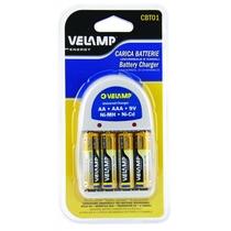 Caricabattere universale con 4 Batterie stilo Incluse Velamp CBT01