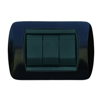Placca nero antracite a 3 posti  Compatibile con Living International CAL 681