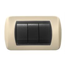 Placca crema a 3 posti  Compatibile con Living International CAL 620