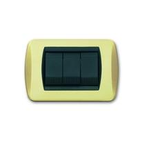 Placca In ottone satinato a 4 posti Compatibile con Living International CAL 641/4