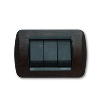 Placca Wenge a 4 posti  Compatibile con Living International CAL 674/4