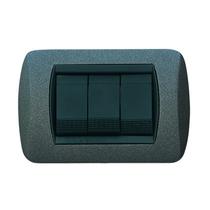Placca grigio ardesia  a 4 posti  Compatibile con Living International CAL 683/4