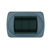 Placca grigio ardesia a 4 posti  Compatibile con Living International CAL 349/4