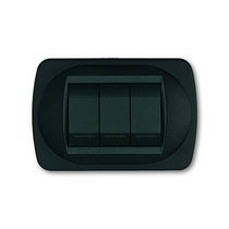 Placca nero goffrato a 4 posti  Compatibile con Living International CAL 340/4