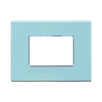 Placca Unika Compatibile con Bticino Matix Azzurro Pastel Cal UNI303/3