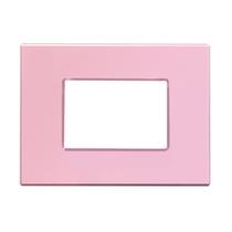 Placca Unika Quattro posti Compatibile con Bticino Matix Rosa Pastel Cal UNI304/4