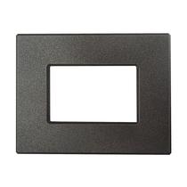 Placca Unika Quattro Posti Compatibile con Bticino Matix Grigio Piombo Cal UNI307/4