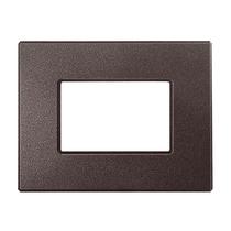 Placca Unika Quattro Posti Compatibile con Bticino Matix Marrone elegance Cal UNI308/4