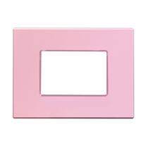 Placca Unika Quattro posti Compatibile con Bticino Axolute Rosa Pastel Cal UNI404/4