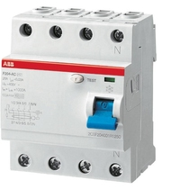 Interruttore Differenziale Puro 4 Poli Tipo AC 25A 300mA ABB F427818