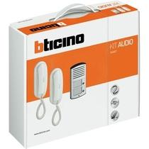 Kit Citofono Bifamiliare 2 fili con pulsantiera Sfera Ticino 366821