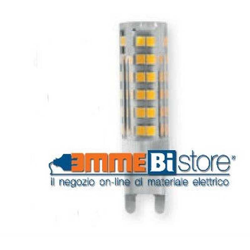 Lampada a led bispina in ceramica attacco G9 4,5W luce Calda Wiva 12100357