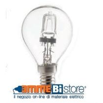 Lampada alogena Sfera 3000K bianco caldo E27 28W 230V Wiva 11082602