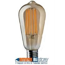 Lampada a led antico ST64 220 - 240V 6W Attacco E27 2000K Wiva 12100575