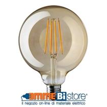 Lampada a led Globo stile antico 6W Attacco E27 2000K Wiva 12100572