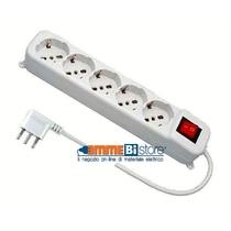 Multipresa 5 posti indipendenti colore bianco cavo 3MT Wiva 31500616