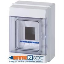 Centralino da Parete 2/4Moduli Porta Trasparente IP65 Master M04904-T