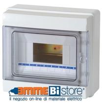 Centralino da Parete 8 Moduli Porta Trasparente IP65 Master M04908-T