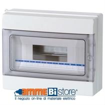 Centralino da Parete 12 Moduli Porta Trasparente IP65 Master M04912-T