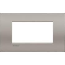 Placca 4 posti quadra sabbia LivingLight Air Bticino LNC4804SB