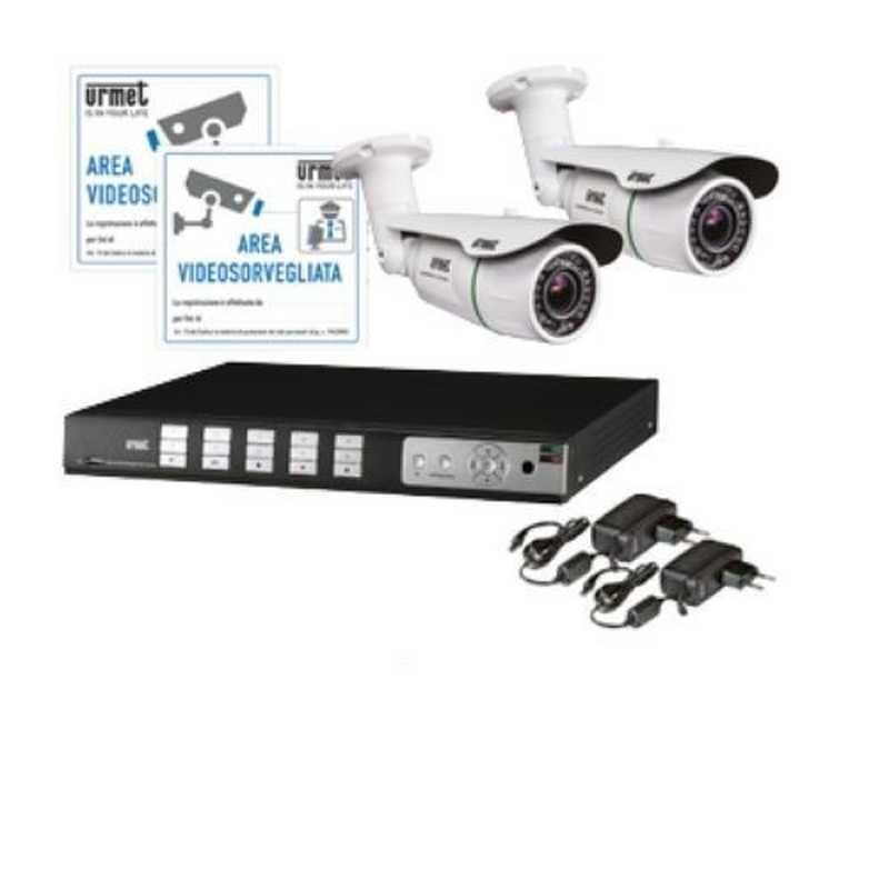 Kit videosorveglianza 2 Telecamere 1 DVR 8  Canali Urmet 1093/KN8