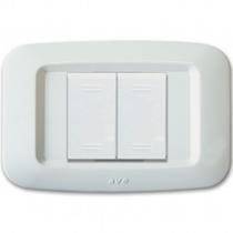 Placca Ave Yes Sistema 45 Tecnopolimero 2 moduli Ravvicinati Bianco Banquise 45PY002BB