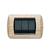 Placca rovere sbiancato a 7 posti  Compatibile con Living International CAL 675/7