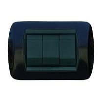 Placca nero antracite a 7 posti  Compatibile con Living International CAL 681/7