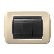 Placca crema a 7 posti  Compatibile con Living International CAL 620/7