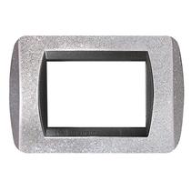 Placca argento glitter  a 7 posti  Compatibile con Living International CAL 623/7