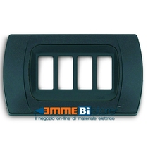 Placca Antracite Metallizzata 3 posti per Bticino Magic con adattatore Cal