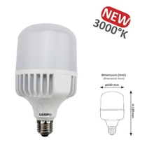 Lampada a Led alta luminosita' 30W Bianco Caldo Lampo CO30WBC