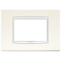 Placca Vimar Eikon Classic con cornice bianca 3 Moduli bianco artico 20653.B01