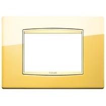 Placca Vimar Eikon Classic 3 Moduli oro lucido 20653.G24