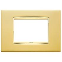 Placca Vimar Eikon Classic 3 Moduli oro satinato cornice oro 20653.G21