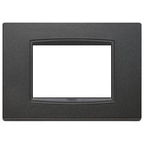 Placca Vimar Eikon Classic 3 Moduli antracite matt 20653.15