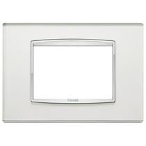 Placca Vimar Eikon Classic 3 Moduli argento mirror con cornice cromata 20653.C81