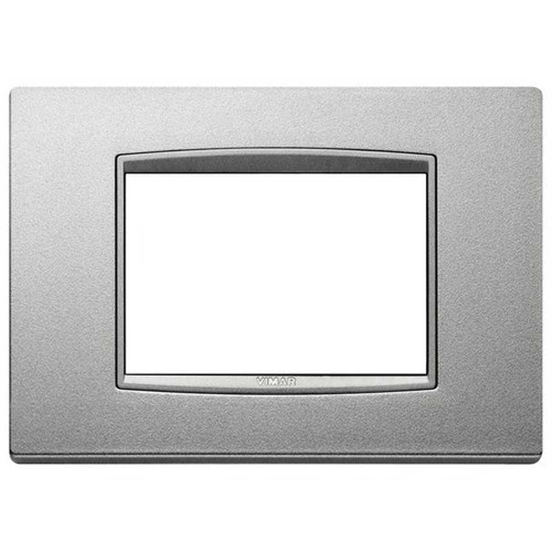 Placca Vimar Eikon Classic 3 Moduli argento matt 20653.N13