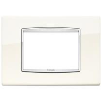 Placca Vimar Eikon Classic con cornice cromata 3 Moduli bianco artico 20653.C01