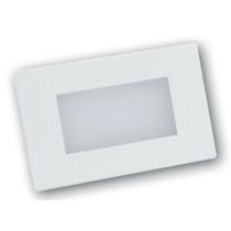 Lampada Segnapasso led luce calda 3W rettangolare da incasso per scatole 503