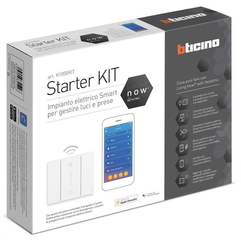 Starter Kit per 5 tapparelle Bticino Living Now K2000KIT