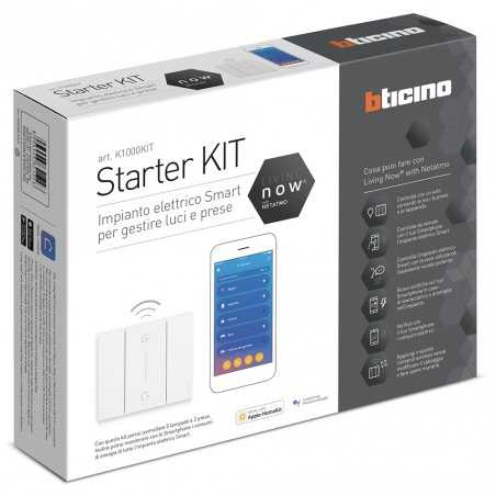Starter kit per 5 tapparelle bticino living now k2000kit for Cronotermostato bticino living