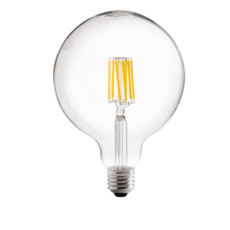 lampada a led globo 8w luce calda attacco grande wiva 12100560