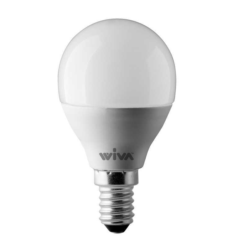Lampada a Led Sfera Satinata 6W Luce fredda attacco E14 Wiva