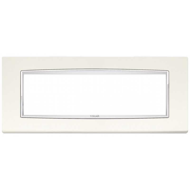 Placca Vimar Eikon Classic  7 Moduli metallo bianco artico 20657.C01