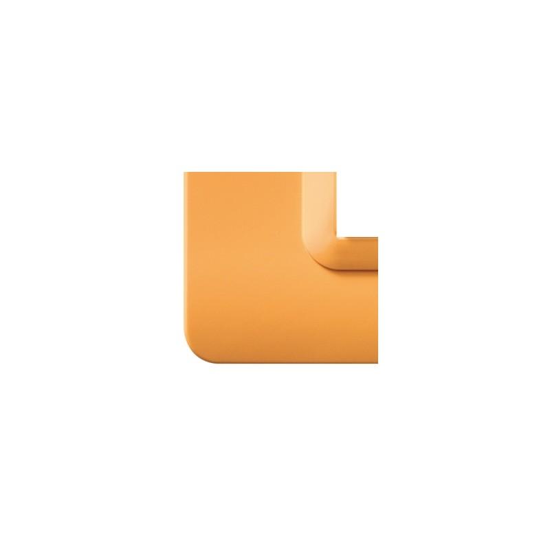 """Placca AVE 44PY04AP""""Tecnopolimero 44""""  4 moduli Arancione opalino"""