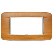 Placca Vimar Eikon Round 4 Moduli legno ciliegio americano 20684.C36