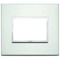 Placca Vimar Eikon Evo Alluminio brillante 3 moduli - codice 21653.01
